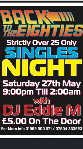 over 25s Only  80s Night