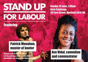 stand up for Labour comedy night